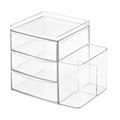 Acrylic Cosmetic Organizer Storage With 3 Drawers