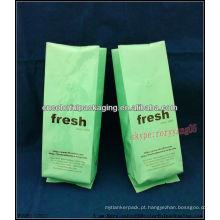 Saco de empacotamento do feijão de café do assado / válvula fresca do café nos sacos de feijão da folha de alumínio do reforço do lado