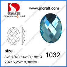 Top Quality Loose Dz-1032 Oval Glass Stone for Bags