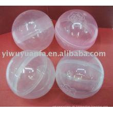 Transparente leere Kunststoff-Kapsel für Spielzeug-Verkaufsautomat