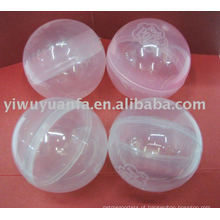 Transparente Cápsula de plástico vazio para máquina de venda de brinquedos