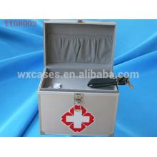 venta caliente caja de kit de primeros auxilios de aluminio con 2 opciones de color
