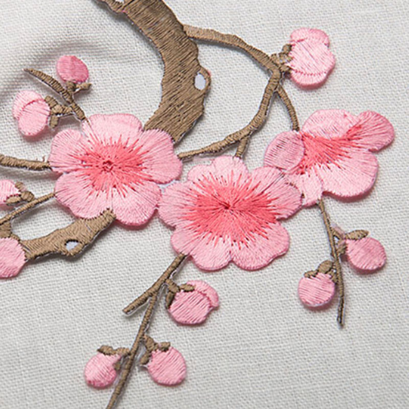 Embroidered Plum Blossom Flower Patches