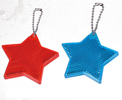 Reflective Safety Star Shape Keychain