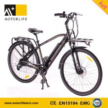 MOTORLIFE / OEM EN15194 VENTA CALIENTE 36v 250w 700C bicicleta eléctrica, 36v 10.4ah bicicleta eléctrica batería de iones de litio