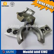 Usinagem de dedos mecânicos CNC, usinagem CNC de torneamento / fresagem para componentes mecânicos de aço inoxidável