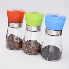 Manual black pepper grinder stainless steel spice coffee grinding device