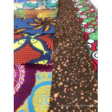 Tissu à imprimé à la cire de polyester d'Afrique