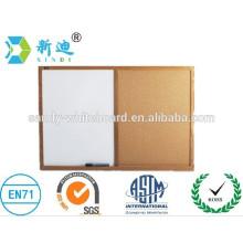 Demi-panneau blanc demi-liège carré cadre en bois