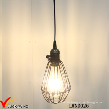 Decken-Weinlese-Metallkäfig-hängende Lampe