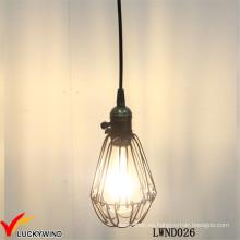 Lámpara colgante de techo de metal vintage de techo