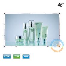 Nenhuma moldura aberta 46 polegadas LCD monitor HDMI VGA DVI com HD 1080p