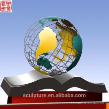 2016 nueva escultura del jardín del acero inoxidable de la alta calidad