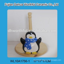 High quality ceramic tissue holder with penguin shape