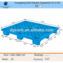 light capacity 9 feets warehouse plastic pallet