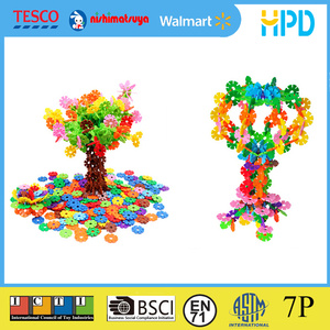 Creative Brain Building Snowflake Toy for Kids