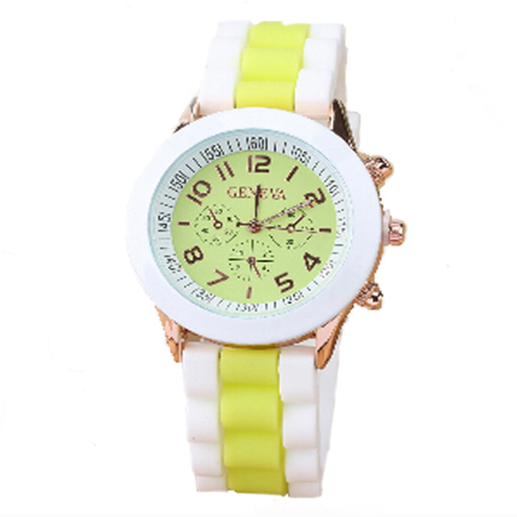 New Style Girls Steel Back Silicone Wrist Watch
