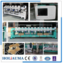 New 6 heads high speed cap embroidery machine with sequin bead embroidery