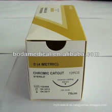Absorbierbare Naht-Chrom-Catgut-Naht