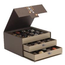 Boîte de luxe d'emballage de chocolat de cadeau de papier de carton fait sur commande de multicouche