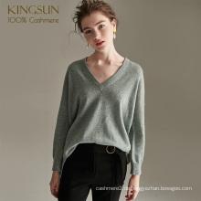 Frau Mode Fancy Reine Kaschmirpullover Ente Grün Pullover
