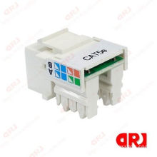 Krone / Dual Idc Type Cat5e Connector / Utp Rj45 Keystone Jack 90 Degree