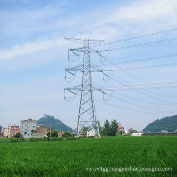 220 Kv Doubule Circuit Angle Steel Power Transmission Tower