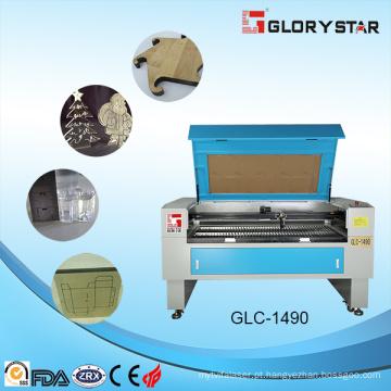 Wood / máquina de gravura de acrílico do Cuttting do laser (GLC-1490A) com poder elevado do laser