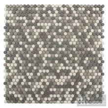 Mosaico reciclado Grey Mix en Roud pequeño