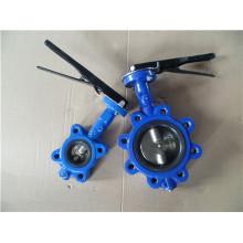 Válvula de borboleta do Lug do ferro de molde de 125lb 150lb (com o eixo dois)