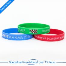 China Wholesale Pulseira de Silicone barata ou Wristband com logotipo personalizado
