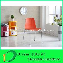 красочные стекируемые пластиковые сиденья стул металла