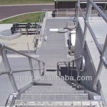 Treppe aus Edelstahl