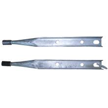 Broche supérieure galvanisée pour quincaillerie de ligne de poteau standard