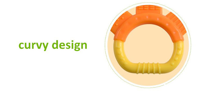 curvy design teether