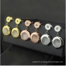 Joyería de moda de acero inoxidable joyería shell pendientes de oro (hdx147)