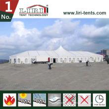 Tente de tente de tension de toit tente de église de tentes de pic haut de 40 x de 40m pour 2000 personnes