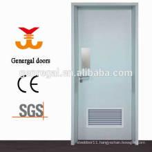 Steel hospital toliet door with louver