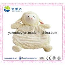 Safe and Soft Plush White Lamb Baby Play Mat