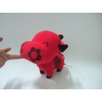 jouet de vache à fleur, jouet de bébé en peluche, jouet de boeuf en peluche