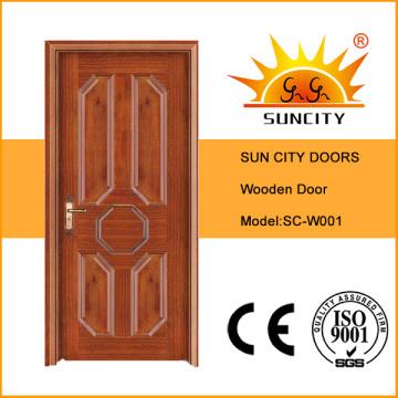Natural Wood Laminated Veneer Wood Entry Door (SC-W001)