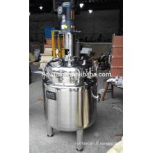 Réservoir de mélange pressurisé industriel en acier inoxydable pour liquide chimique
