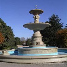 Hand geschnitzter Steinwasserbrunnen im Freien für Verkauf