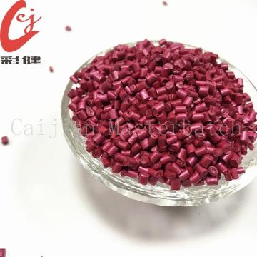 Rose Red Pearlscent Masterbatch Granules