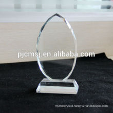 2015 Wholesale crystal plate,blank glass block, photo frame, color logo print as gift decoration or souvenirs