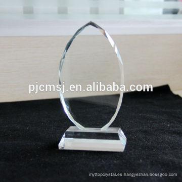 2015 Placa de cristal al por mayor, bloque de cristal en blanco, marco de la foto, impresión del logotipo del color como decoración del regalo o recuerdos
