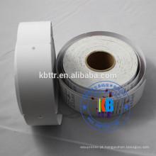 Rosto duplo impresso em branco branco string vestuário pendurar tags