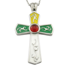 Stainless Steel Cross Religious Pendant Necklace