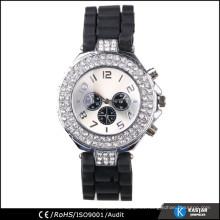 Caja de reloj de diamante sintético, reloj de cuarzo resistente al agua