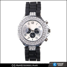 synthetic diamond watch case, water resistant quartz watch